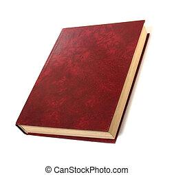 singolo, libro, isolato, bianco