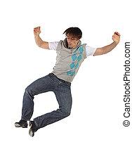 singolo, maschio, ballerino tip tap