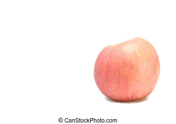 singolo, mela, bianco, fondo.