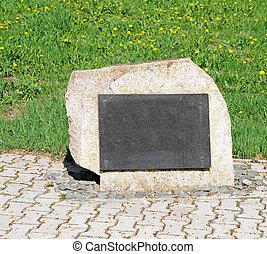 singolo, pietra, tomba