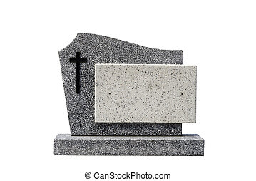 singolo, tomba, pietra, ritagliare, (clipping, path)