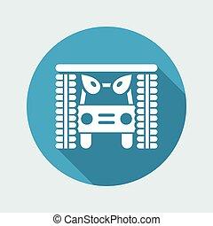 singolo, vettore, isolato, illustrazione, icona