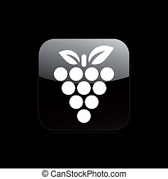 singolo, vettore, uva, illustrazione, icona