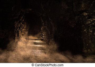 Sinister Dungeon - Ancient dark dungeon in the fog