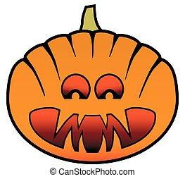 Sinister Halloween Pumpkin - A cartoon Halloween pumpkin...