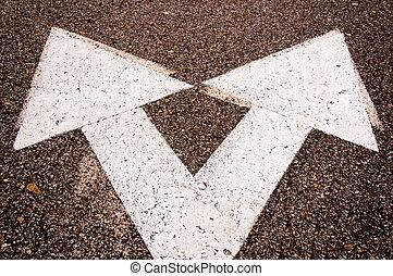 sinistra, e, destra, segni