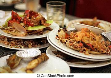 sinistra, piatti, ristorante