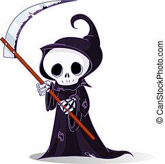 sinistre, dessin animé, reaper