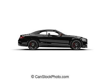 sinistre, noir, moderne, luxe, voiture convertible, -, vue côté
