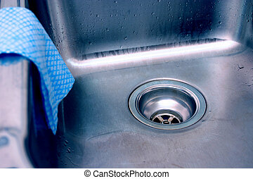 Sink drain and cleaning cloth