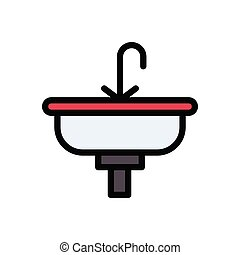 sink flat color icon