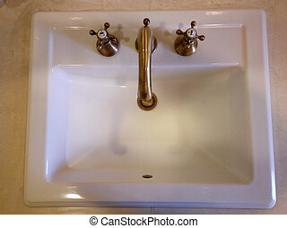 Sink for washing up - Modern sink for washing up in the...