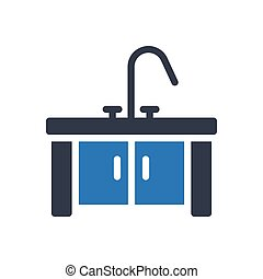 sink glyph color icon