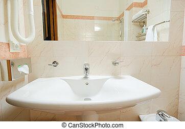 Sink in the modern bathroom