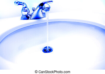 Sink with Water Running