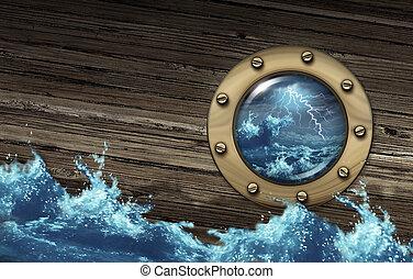sinkenden schiff