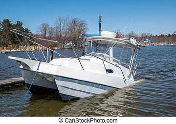 sinking catamaran boat - white catamaran boat sinking in ...