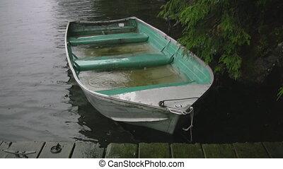Sinking fishing boat. Two shots.