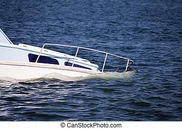 Sinking plesure craft
