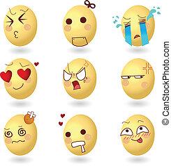 sinnesrörelse, ägg, set1