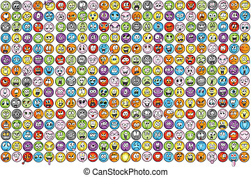 sinnesrörelse, emoticons, vectors, ikon