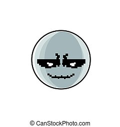 sinnesrörelse, folk, positiv, ansikte, le, tecknad film, ikon