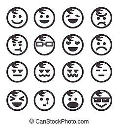 sinnesrörelse, mänsklig, ikon