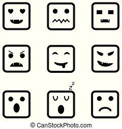 sinnesrörelse, sätta, ikon