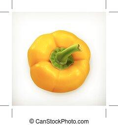 sino, ilustração, pimenta