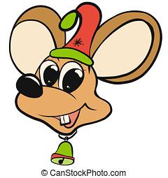 sino, pequeno, grande, boné, feliz, rato, natal, orelhas