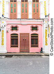 Sino-Portuguese architecture of ancient building in Phuket ...
