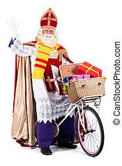 sinterklaas, велосипед