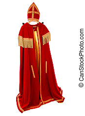 Sinterklaas Costume on white background