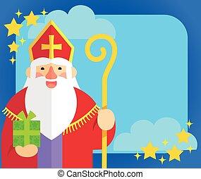 Sinterklaas flat design