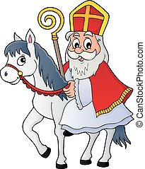 Sinterklaas on horse theme image 1