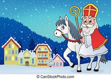 Sinterklaas on horse theme image 2