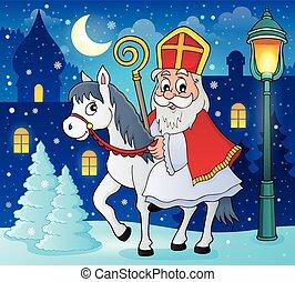 Sinterklaas on horse theme image 3