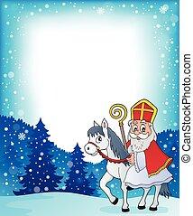 Sinterklaas on horse theme image 4