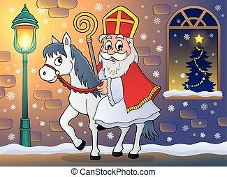 Sinterklaas on horse theme image 7