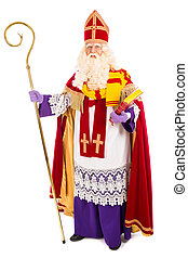 Sinterklaas on white background. full length