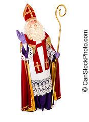 Sinterklaas on white background. full length - Sinterklaas ...