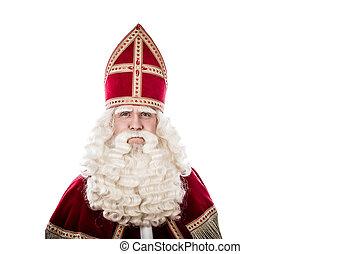 Sinterklaas on white background