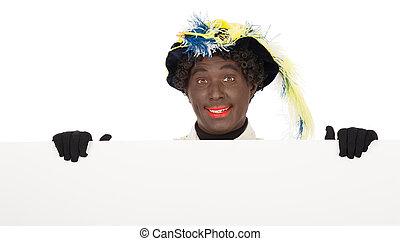 sinterklaas, pete), piet, zwarte, (black