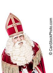 Sinterklaas vintage look on white background