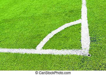 sintetico, campo, futebol, canto
