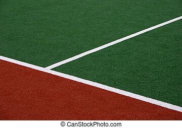 sintetico, hockey campo, sideline
