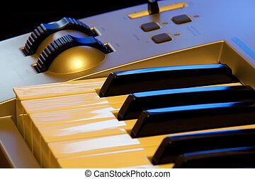 sintetizador, controles, teclado