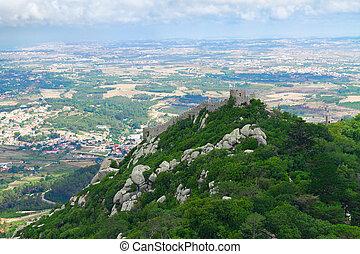 sintra, moorish, portugal, castelo