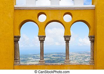 sintra, palacio, portugal, pena