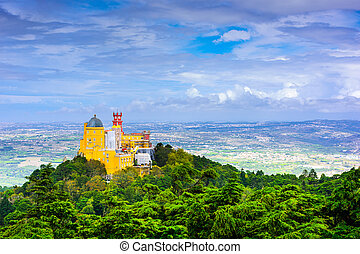 Sintra, Portugal View - Sintra, Porugal at Pena National...